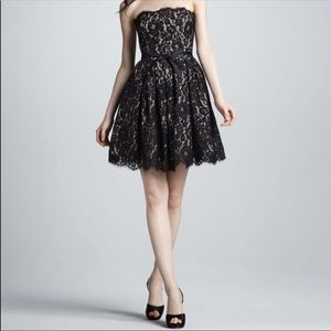Neiman Marcus x Target Lace Flare Strapless Dress